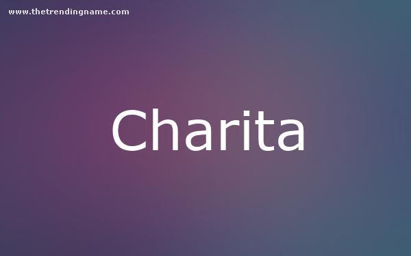 Baby Name Poster For Charita