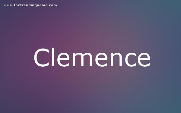 Baby Name Poster For Clemence