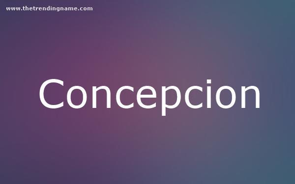 Baby Name Poster For Concepcion
