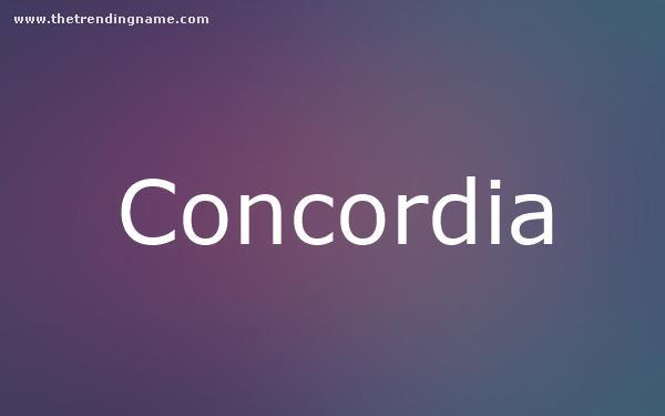 Baby Name Poster For Concordia
