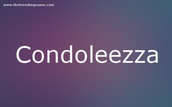 Baby Name Poster For Condoleezza