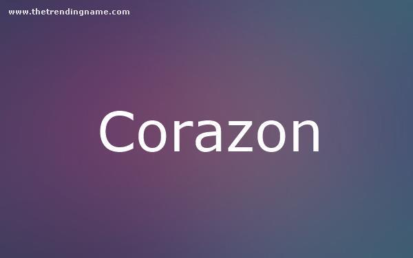 Baby Name Poster For Corazon