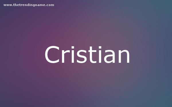 Baby Name Poster For Cristian