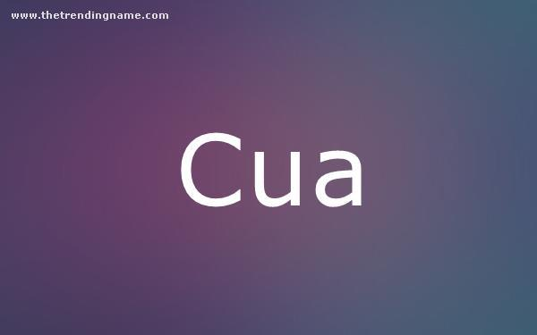 Baby Name Poster For Cua