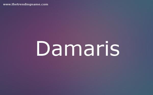 Baby Name Poster For Damaris