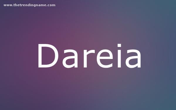 Baby Name Poster For Dareia