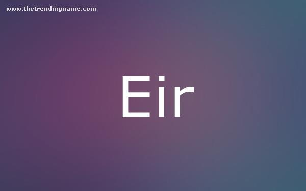 Baby Name Poster For Eir