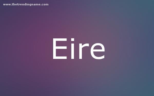 Baby Name Poster For Eire