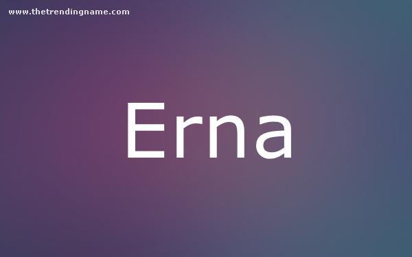 Baby Name Poster For Erna
