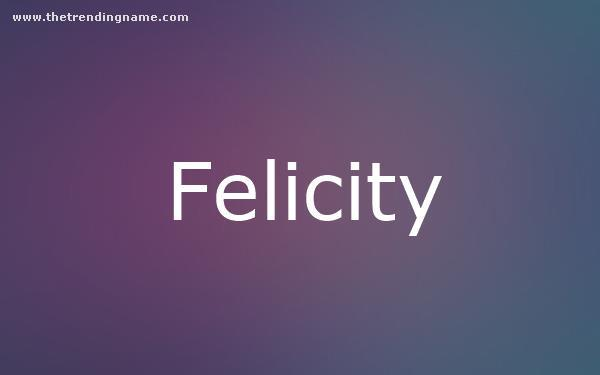 Baby Name Poster For Felicity