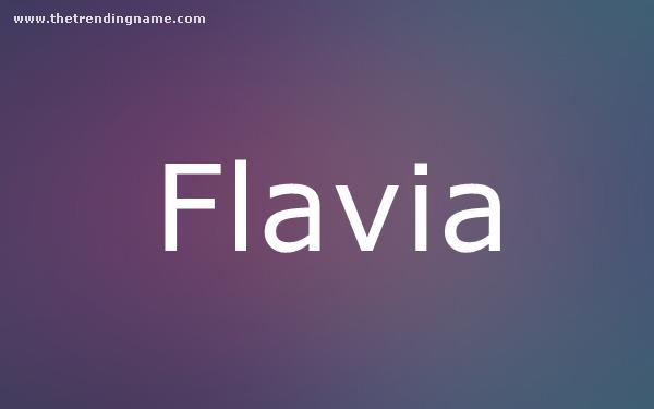 Baby Name Poster For Flavia
