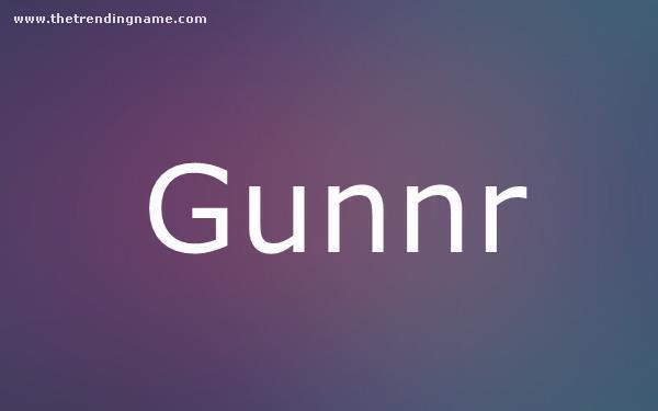 Baby Name Poster For Gunnr
