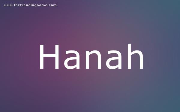 Baby Name Poster For Hanah