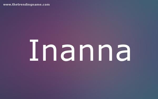 Baby Name Poster For Inanna