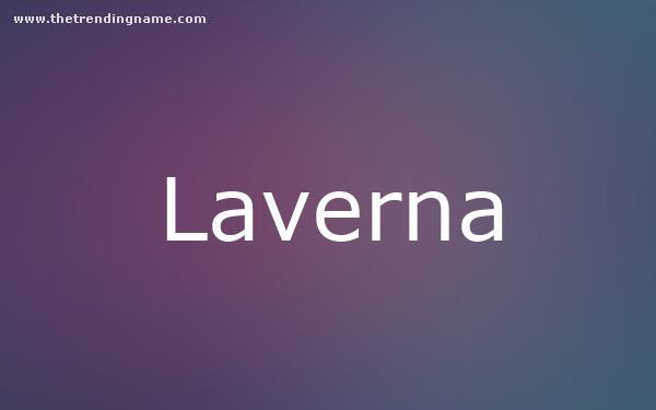 Baby Name Poster For Laverna