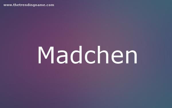 Baby Name Poster For Madchen