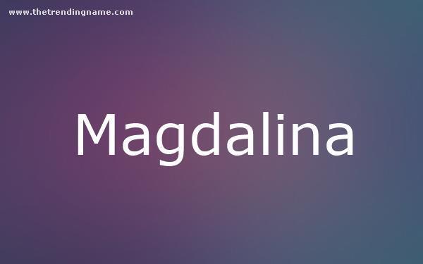 Baby Name Poster For Magdalina