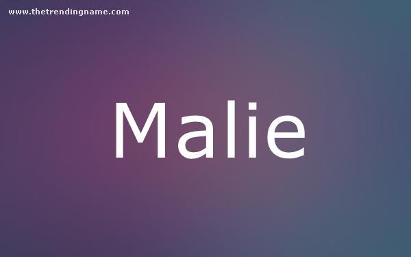 Baby Name Poster For Malie