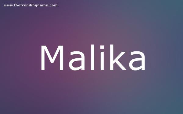 Baby Name Poster For Malika