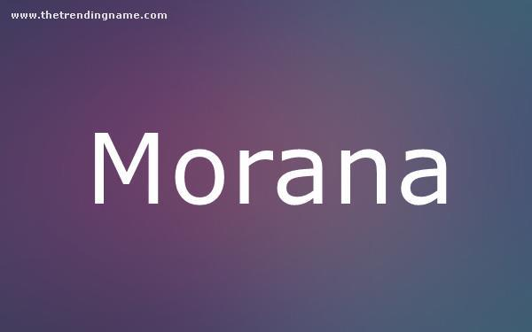 Baby Name Poster For Morana