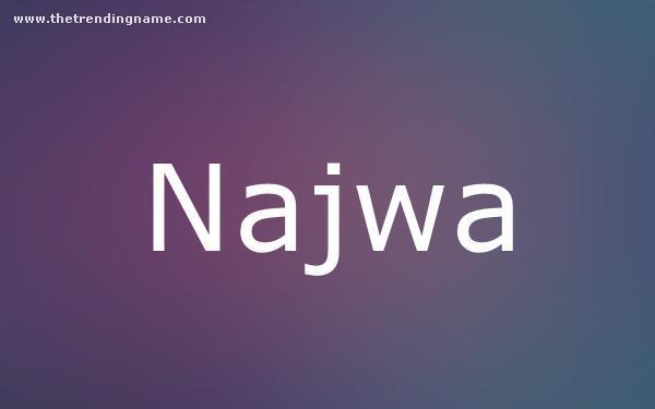 Baby Name Poster For Najwa