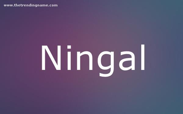 Baby Name Poster For Ningal