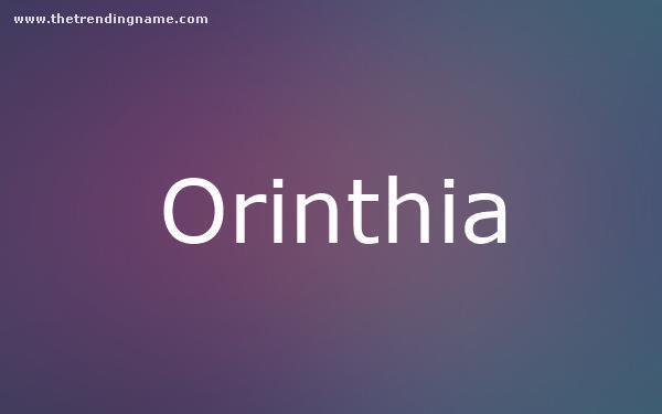 Baby Name Poster For Orinthia