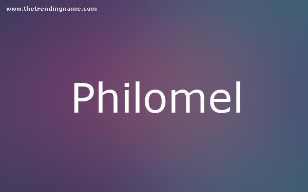 Baby Name Poster For Philomel