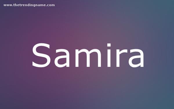 Baby Name Poster For Samira