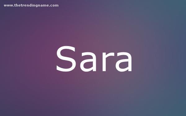 Baby Name Poster For Sara