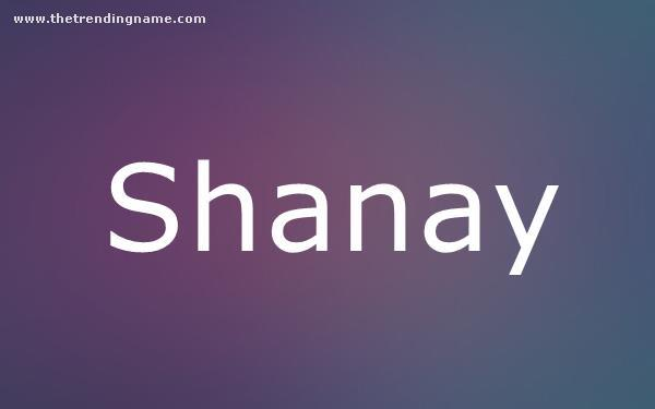 Baby Name Poster For Shanay