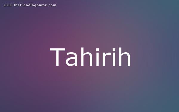 Baby Name Poster For Tahirih