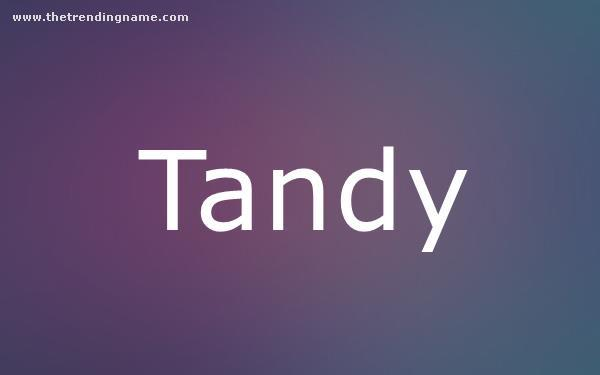 Baby Name Poster For Tandy