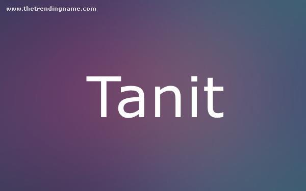 Baby Name Poster For Tanit
