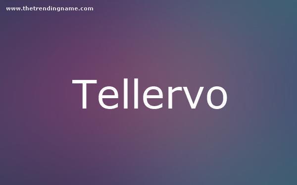 Baby Name Poster For Tellervo