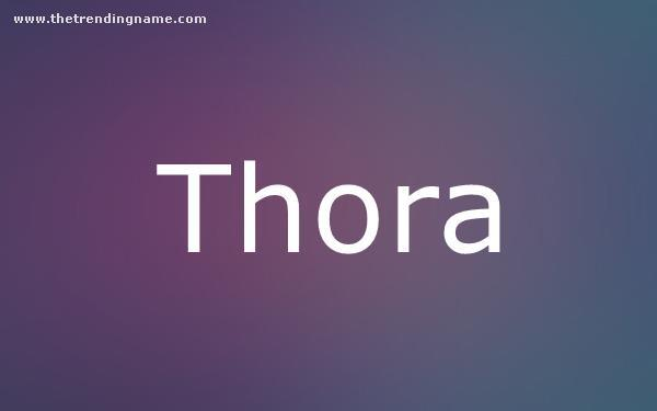 Baby Name Poster For Thora