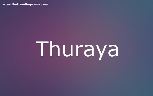Baby Name Poster For Thuraya