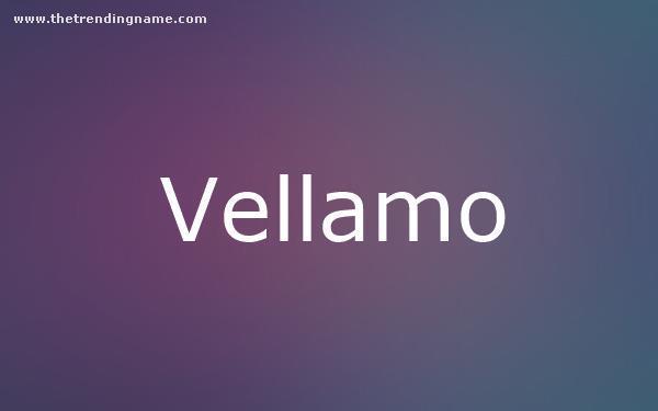 Baby Name Poster For Vellamo