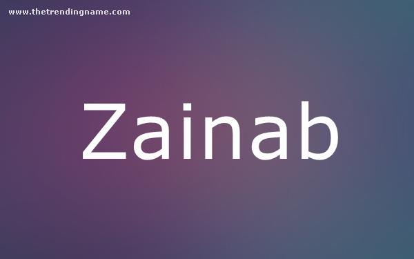 Baby Name Poster For Zainab