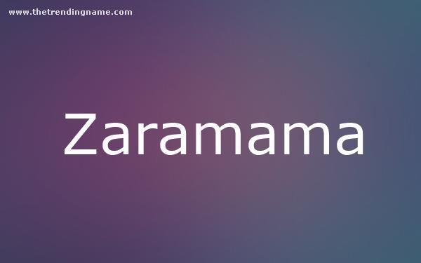 Baby Name Poster For Zaramama