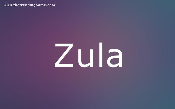 Baby Name Poster For Zula