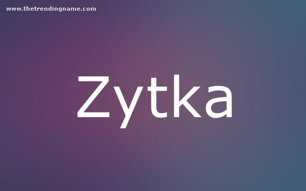 Baby Name Poster For Zytka