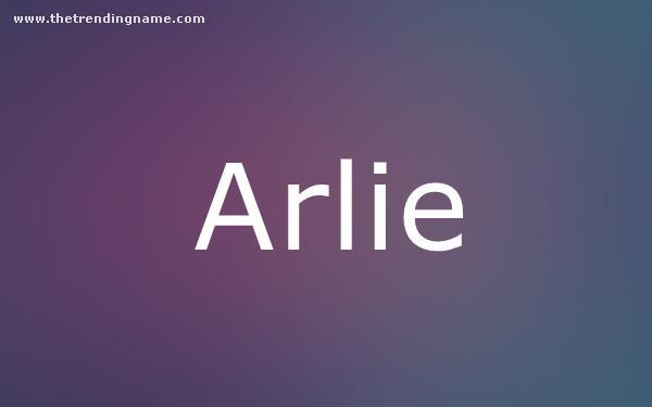 Baby Name Poster For Arlie
