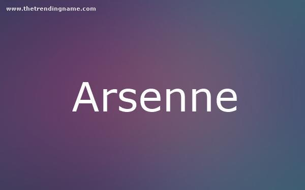 Baby Name Poster For Arsenne