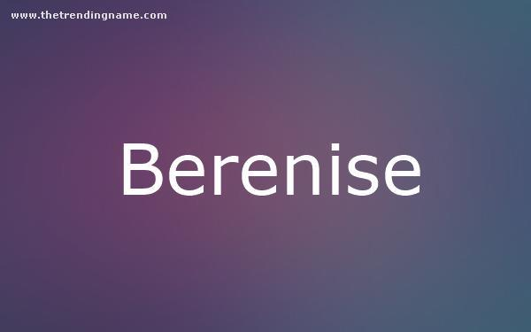 Baby Name Poster For Berenise
