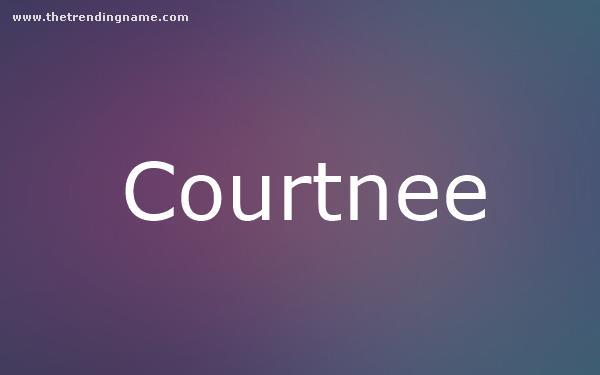 Baby Name Poster For Courtnee