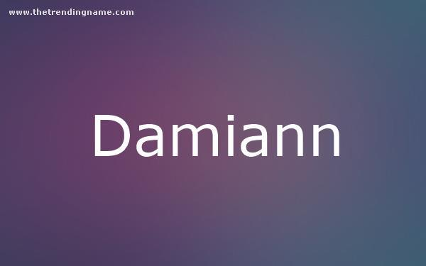 Baby Name Poster For Damiann