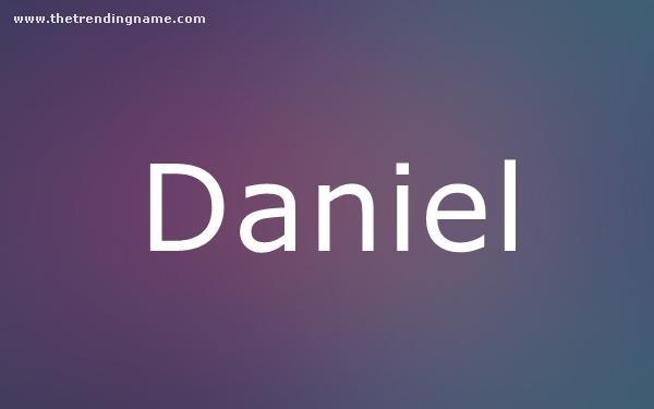 Baby Name Poster For Daniel
