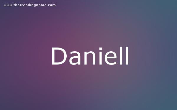 Baby Name Poster For Daniell