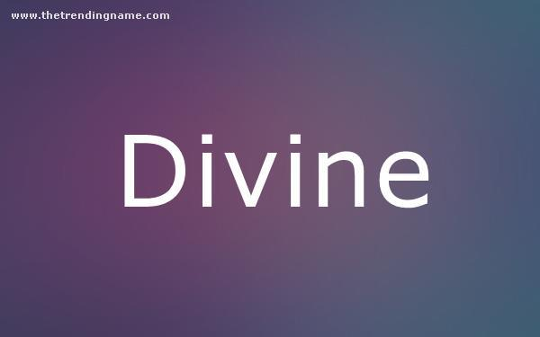 Baby Name Poster For Divine
